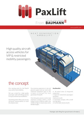 High quality aircraft access vehicules for VIP & restricted mobility passengers