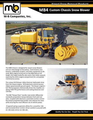 MB4 Custom chassis snow Blower