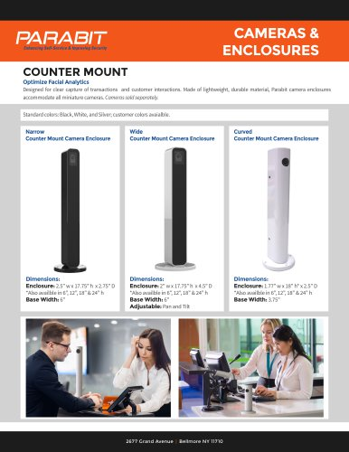 Counter Mount Cameras and Enclosures