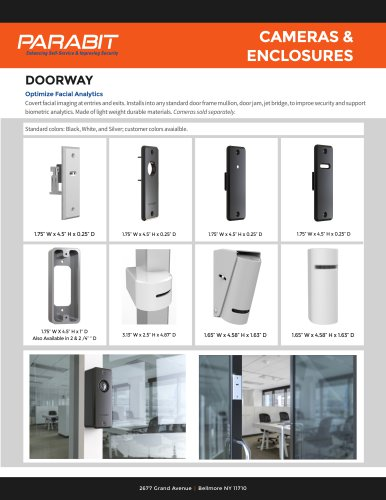 Doorway Cameras and Enclosures