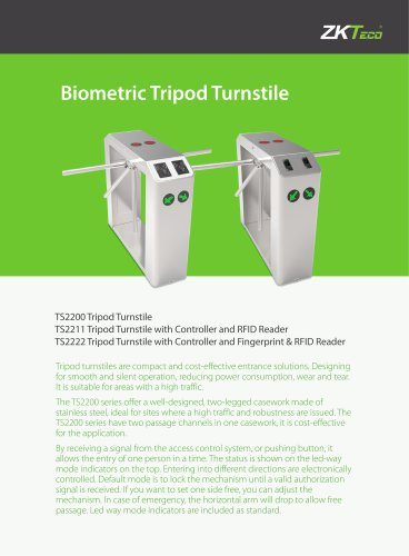 Biometric Tripod Turnstile