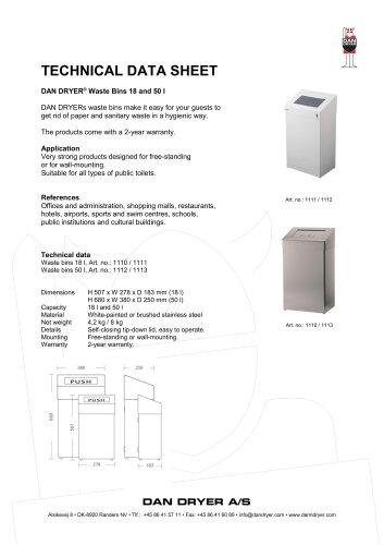DAN DRYER® Waste Bins 18 and 50 l