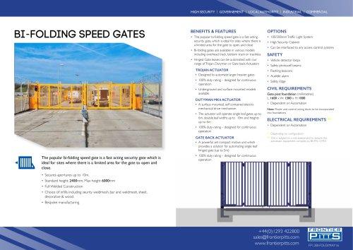 BI-FOLDING SPEED GATES
