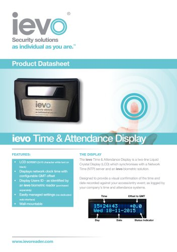 ievo Time & Attendance Display