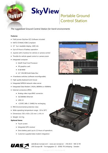 Portable Ground  Control Station