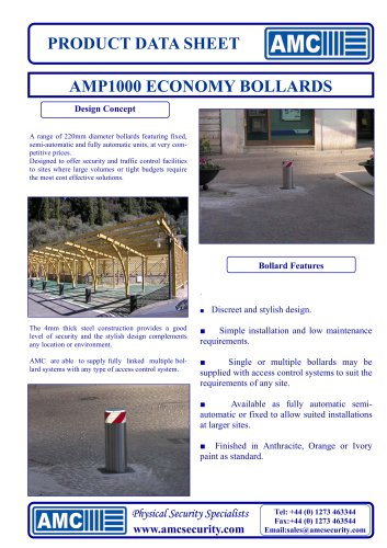 Economy Bollards (AMP1000 Series)