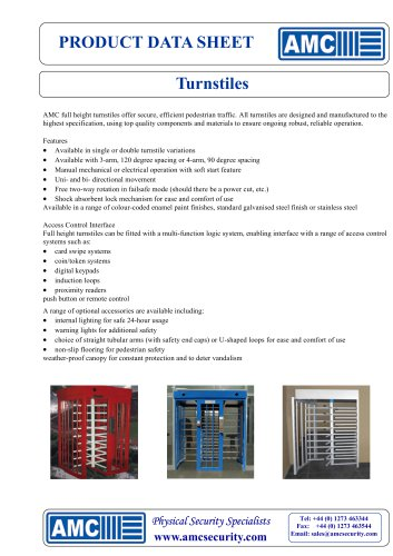 Single and Double Turnstiles