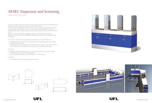 AVSEC Inspection & Screening Benches