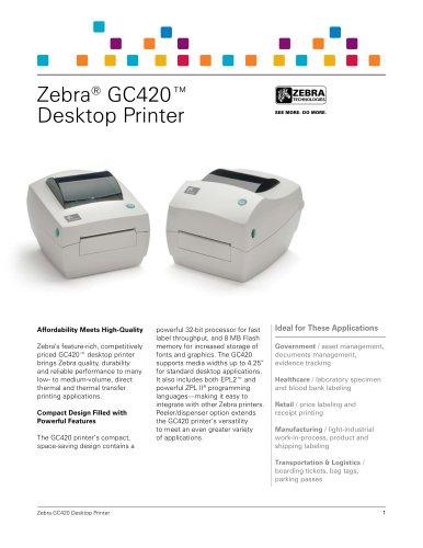 Zebra® GC420™ Desktop Printer