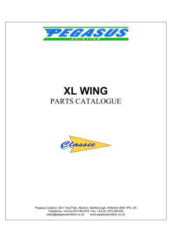 XL WING PARTS CATALOGUE
