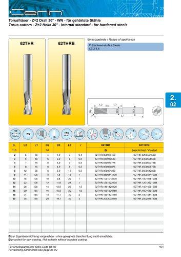 Torus cutters - Z=2 Helix 30°