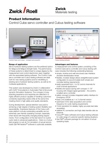 Control Cube servo controller and Cubus testing software