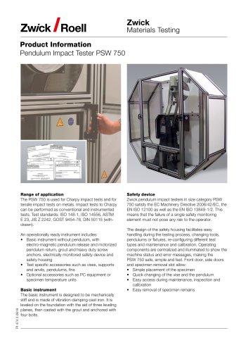 Pendulum Impact Tester PSW 750