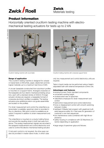 Testing Machines for Biaxial Tensile Tests