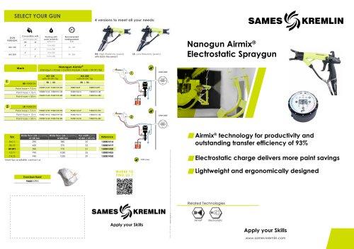 Nanogun Airmix® Electrostatic Spraygun