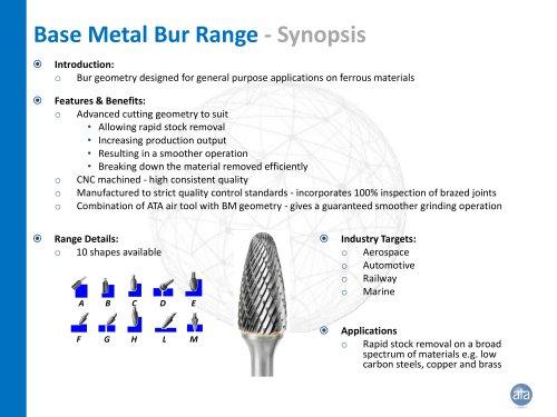 Base Metal Bur Range
