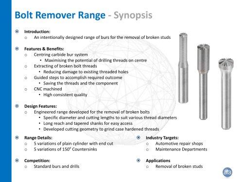 Bolt Remover Range