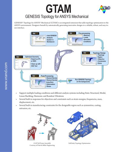 GTAM GENESIS Topology for ANSYS Mechanical