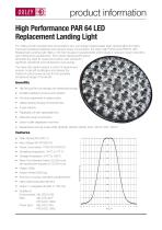 High Performance PAR 64 LED Replacement Landing Light