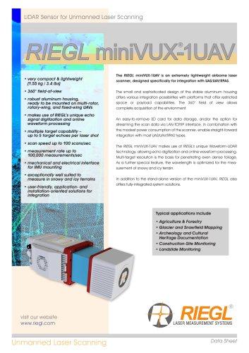 RIEGL miniVUX-1UAV