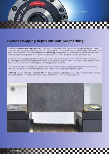 Lowest clamping depth without pre-marking
