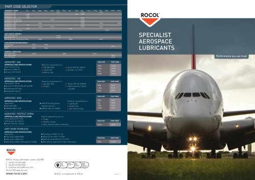 SPECIALIST AEROSPACE LUBRICANTS