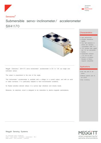 Submersible servo-inclinometer SX41170