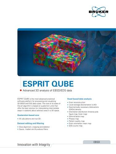 ESPRIT QUBE Advanced 3D analysis of EBSD/EDS data
