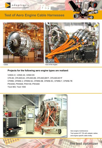 Test of Aero Engine Cable Harnesses
