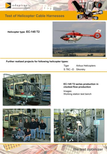 Test of Helicopter Cable Harnesses