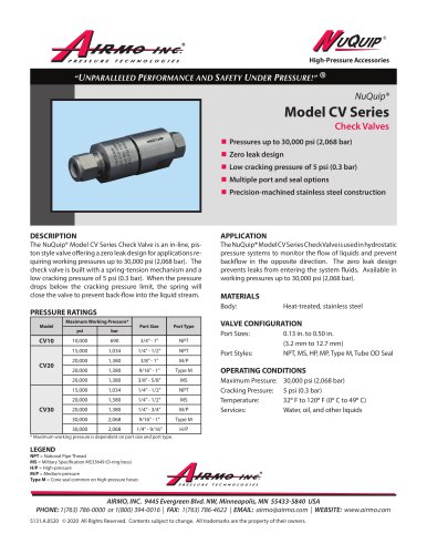 NuQuip®Model CV Series
