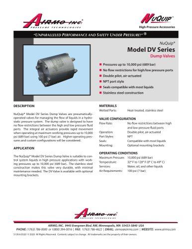 NuQuip®Model DV Series