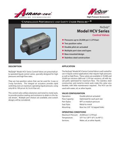 NuQuip®Model HCV Series