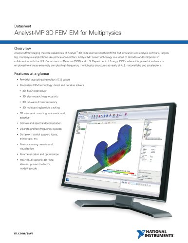 Analyst-MP 3D FEM EM for Multiphysics