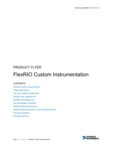 FlexRIO Custom Instrumentation