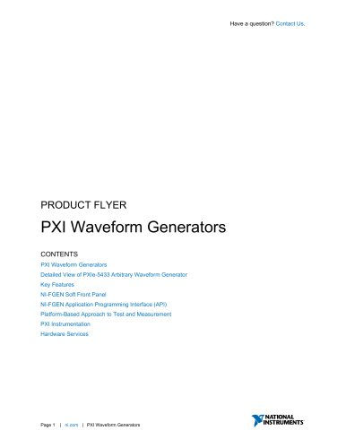 PXI Waveform Generators