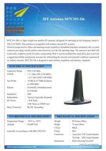 IFF Antenna S07C101-D6