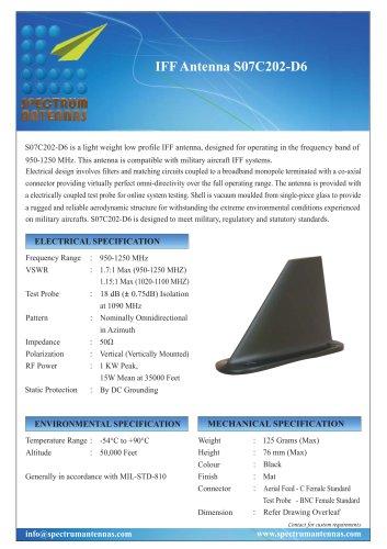 IFF Antenna S07C202-D6