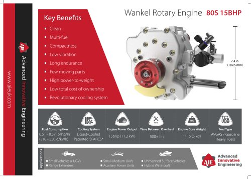 Wankel Rotary Engine Applications 80S 15BHP