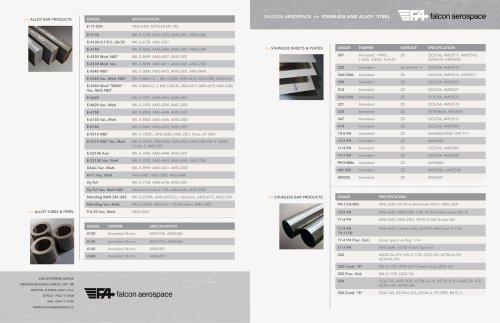 STAINLESS AND ALLOY STEEL Catalogue