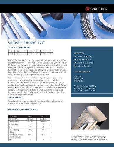 CarTech™ Ferrium® S53®