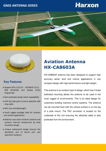 Aviation Antenna HX-CA8603A All GNSS Signals