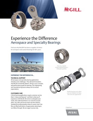 Aerospace and Specialty Bearings