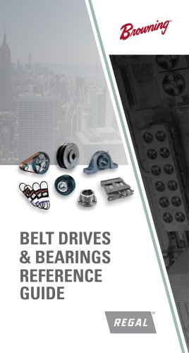 Browning HVAC Belt Drives & Bearings Reference Pocket Guide Catalog