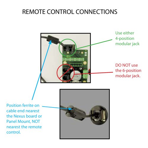 ClearNav Wiring Remote Control Connections