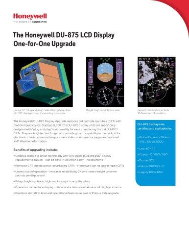 The Honeywell DU-875 LCD Display