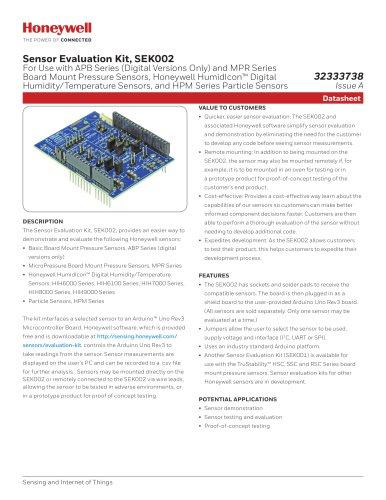 Sensor Evaluation Kit, SEK002