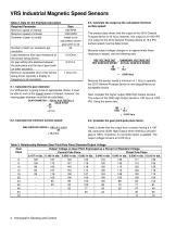 VRS Industrial Magnetic Speed Sensors - 4