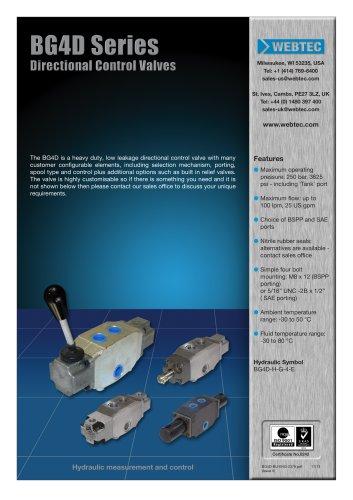 BG4D Series Directional Control Valves