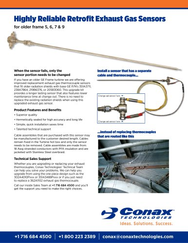 Highly Reliable Retrofit Exhaust Gas Sensors - Conax
